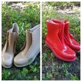Новые резиновые ботиночки 36,37,,38 читать лот)