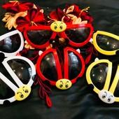 Осталось мало!!! Складные солнцезащитные очки в форме божья коровка. Реальные фото!!!