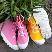 Классные резиновые сапожки кеды - розовые и жёлтые. Стильные и удобные! 36 - 39рр. Укрпочта -5%