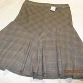 Шикарная юбка в клетку от George на пышные бедра,uk-24\eur-52