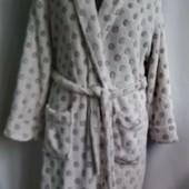 тёплый, мягкий халат пушистик Love to lounge из велсофта (махра-травка), евро  размер Л/14-16/42-44,