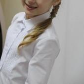 Блузка детская.С защипами