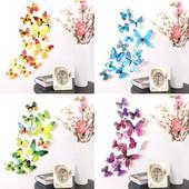 3D бабочки для декора дома.