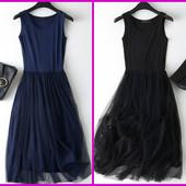 Новое, шикарное платье верх х/б на р. 44-48 (замеры!), цвет на выбор