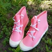 Резиновые ботинки на шнурках 36,37,38, 39,40