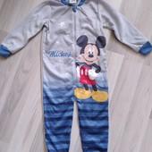 Флисовый слип для мальчика от Disney, размер 98/104 ( 2-4 года). Новый!