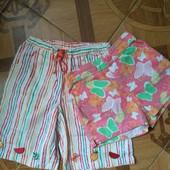 2 пары летних фирменных шортиков для девочки 2-3-х лет в идеальном состоянии