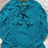 Элегантная шифоновая блуза Next изумрудного цвета, размер 14. Сток!