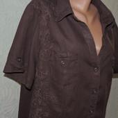 Красивая легкая блуза Yessica размер 22-24 100% лен