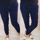 Стильные женские брюки из легкой ткани, размер 40