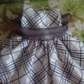 Обворожительное нежное платье с красивым бантом для маленькой царевны