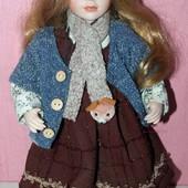 Коллекционная фарфоровая кукла рост 40 см