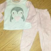 Она супер!!!Плюшевая пижама на1-2 года состояние идеальное
