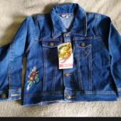 Внимание!! Скоро в школу!!!! Новый джинсовый темно-синий костюм. 6-8 лет