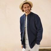 Шикарная рубашка лен+хлопок Livergy размер L( 41/42)
