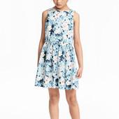 ✿Новое! С биркой! Нежное хлопковое платье H&M (Швеция) 134р