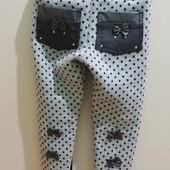 Красиві штанішки-лосінки  на флісі на 2-3р.