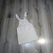Котоновый белоснежный комбинезон H&M,на 6-7лет.
