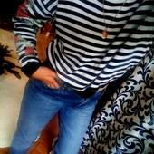 Джинсы 100%коттон +бомбезный свитерок с вышивкой на рукавах!!!