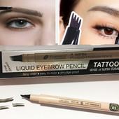 """✅Карандаш-лайнер, маркер  для бровей """" tattoo"""" с эффектом микроблейдинга farres cosmetics"""