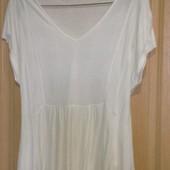 Шикарная блуза с баской M&S цвета ivory,разм.eur-46\18-uk