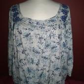 Красивая блуза от M&Co с вышивкой и бисером на 18р! Не секонд. В идеале.