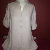 Блуза - туника лен +хлопок отBiaggini на 44 евроразмер! Не секонд. В идеале.