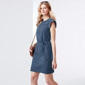 Трикотажное платье с кружевной вышивкой (Германия), размер 44/46 евро
