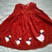 Платье в горошек с уточками