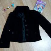 Школьный черный пиджак на девочку 6-8 лет, р. 128-134