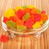 Сушеные фрукты кусочки фруктов(манго, киви, апельсин, и др.) 300 грамм Тайланд