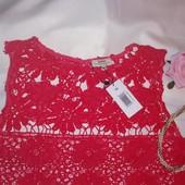 Новое. Очень красивое кружевное платье Papaya 14 р/ 48-52рр. кружево.
