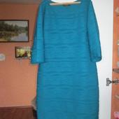 Красивое платье бирюзового цвета Pomodoro, р.16. Состояние нового