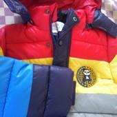 Новая с биркой яркая куртка для мальчикаеврозима.
