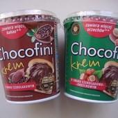 Chocofini нутелла орех и шокодад -на выбор, большая банка 400грам! пр-во Польша!