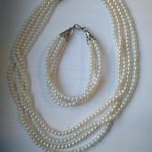 Набор ожерелье и браслет ручной работы