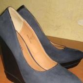 """Шикарные,стильные туфли на платформе """"river island"""" 38р. Описание!"""
