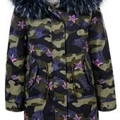 Куртка парка зимняя на девочку