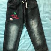 Готовимся к зиме заранее! Теплые джинсы на 4-7 лет