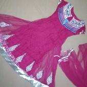 Дуже гарне плаття Оригінальні індійське Не пластик- камінчики Плаття з шаллю Якість