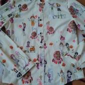 Шикарная блузочка девочке 9-11лет,замеры