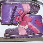 Классные ботиночки на флисе 24 р.(15 см)