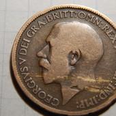 Монета. Великобритания. 1/2 (пол пенни) 1914 года! Король Георг-V.