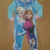 Слип пижама домашний комбинезон для девочки 3-5лет замеры на фото