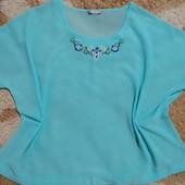 Роскошная шифоновая блуза Tu вышитая бисером, размер 20-24. Дорогой сток!