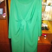 Продам зелёное интересное платье 58 размер