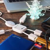 2 вида на выбор ! USB Hub тройник, хаб разветвитель, юсб разветлитель на 4 порта