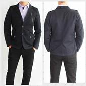 Крутой мужской пиджак! Почти новый 100 % котон! Не пропустите.