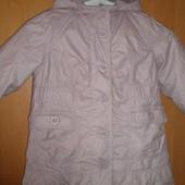 куртка, Парка, непромокайка, деми, внутри флис, размер на 3 года 98 см, NKY. состояние отличное