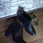 Кожаные удобные ботинки 39 размер. Стелька 25см